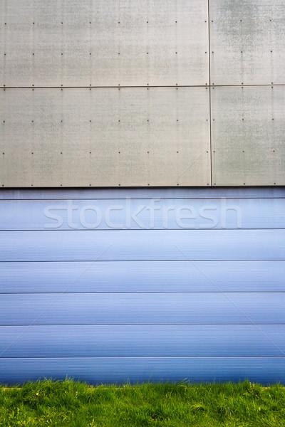 Modern blue tile wall Stock photo © Taigi