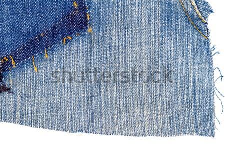 Jeans textuur ruimte achtergrond Blauw weefsel Stockfoto © Taigi