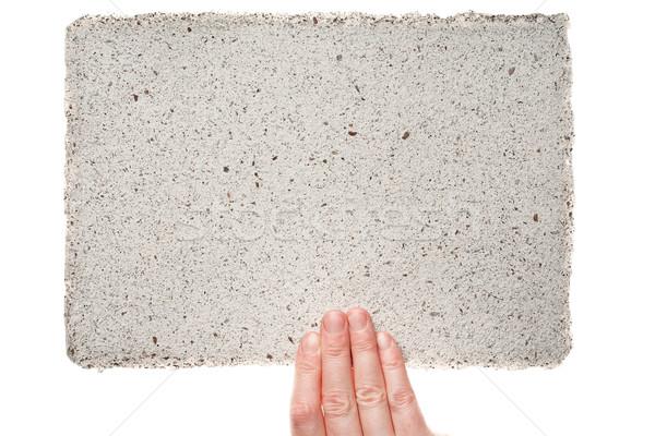Stock photo: Handmade paper in woman hand
