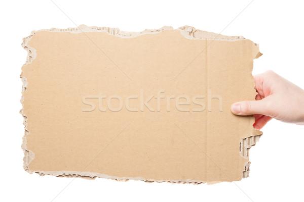 Main carton Homme vide pièce Photo stock © Taigi