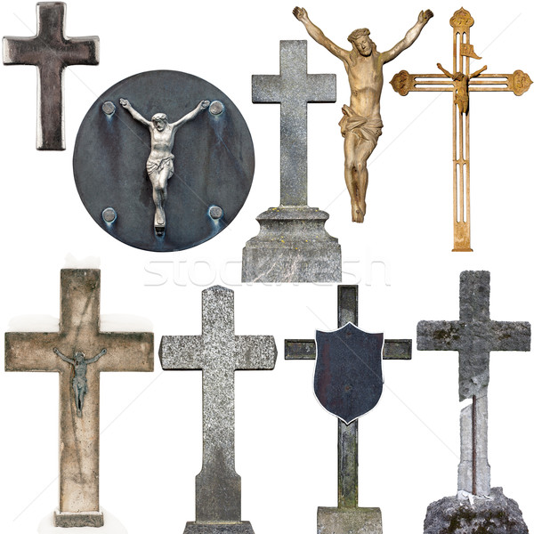 Collection of various gravestones Stock photo © Taigi