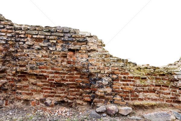 Old ruined brick fence Stock photo © Taigi