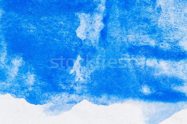 Streszczenie niebieski akwarela wody Zdjęcia stock © Taigi