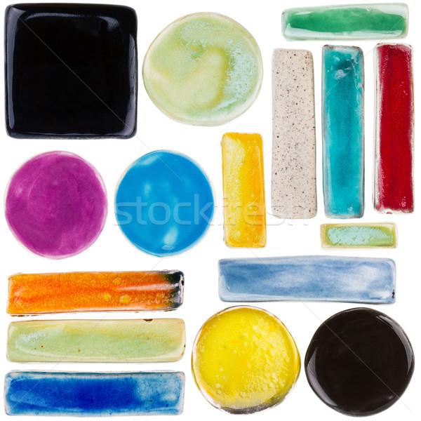 Set of handmade ceramic elements   Stock photo © Taigi