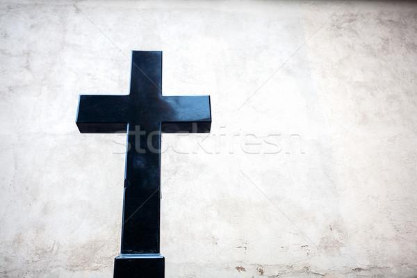 Black granite cross Stock photo © Taigi
