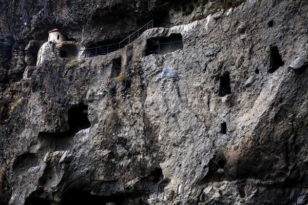 пещере монастырь Грузия природы горные рок Сток-фото © Taigi