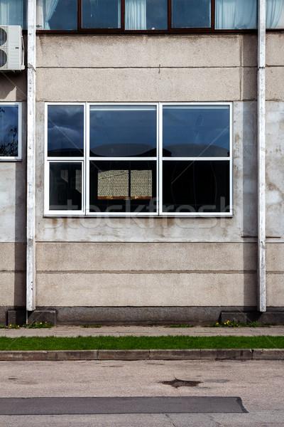 Kopott utca fal viharvert ipari épület Stock fotó © Taigi