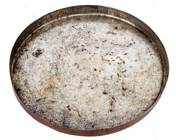 Rusty metal placa aislado blanco diseno Foto stock © Taigi