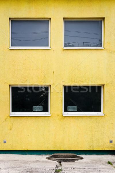 Modern citromsárga utca fal ház épület Stock fotó © Taigi