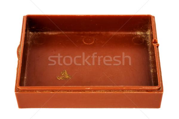 Starych plastikowe polu brązowy odizolowany Zdjęcia stock © Taigi