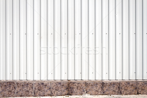 Grooved metal wall Stock photo © Taigi