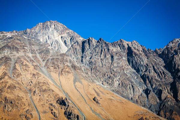 Cáucaso montanas Georgia nubes hierba Foto stock © Taigi