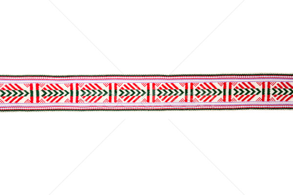 Detail of colorful folk costume belt Stock photo © Taigi