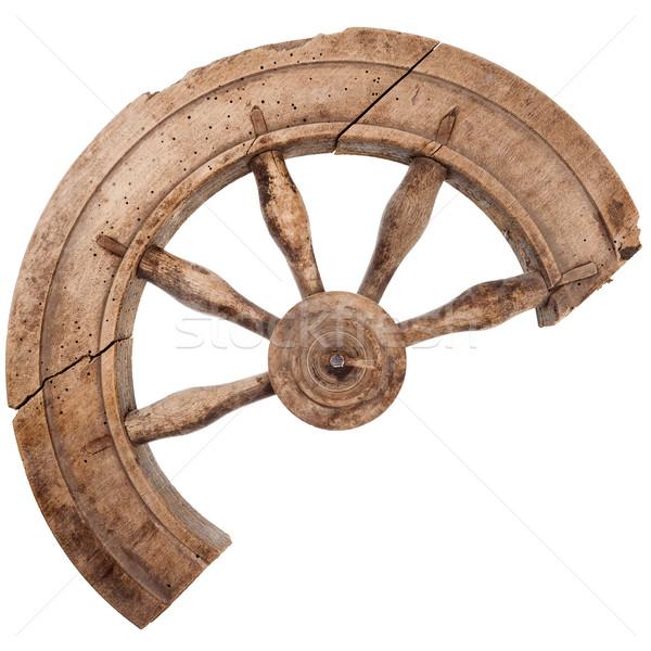 Roto vintage rueda aislado blanco Foto stock © Taigi