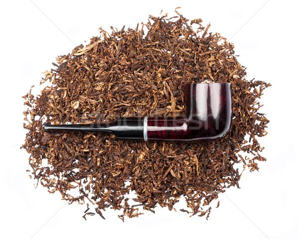 Fumar tubería tabaco aislado blanco fondo Foto stock © Taigi