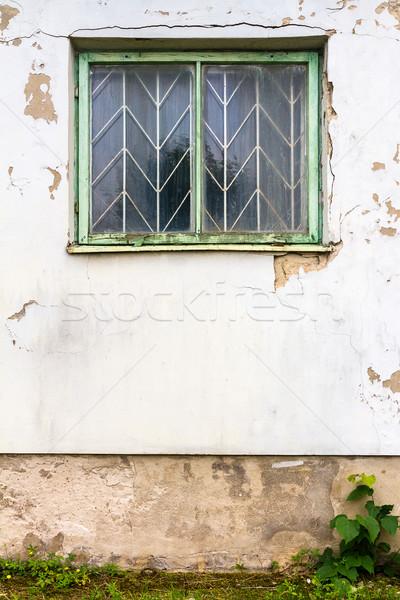 Blanco calle pared edad ventana diseno Foto stock © Taigi