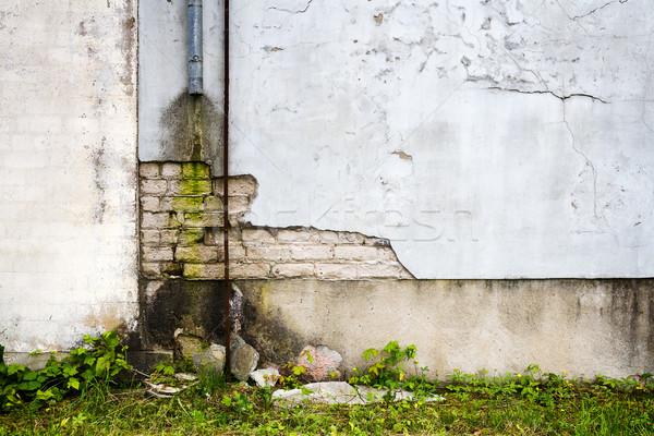 Starzenie się architektury starych rur farby ściany Zdjęcia stock © Taigi