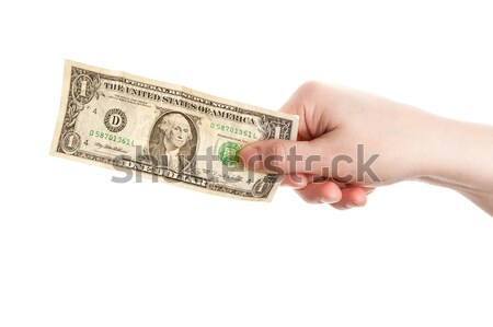 Stock photo: Hand holding dollar
