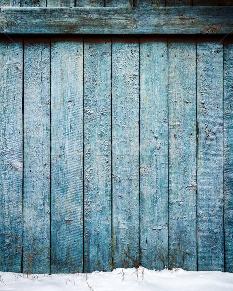 Vecchio intemperie legno recinzione terra Foto d'archivio © Taigi