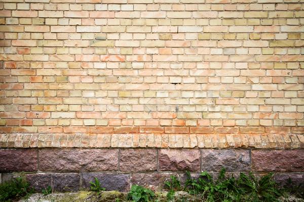 黄色 レンガの壁 石 地下 建物 デザイン ストックフォト © Taigi