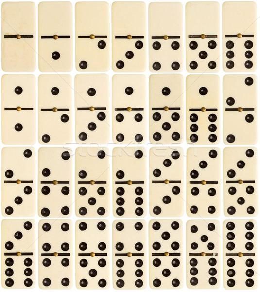 Full set of domino tiles Stock photo © Taigi