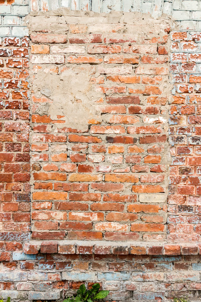 Old wall with bricked up windows Stock photo © Taigi