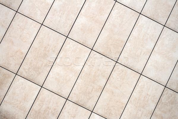 świetle beżowy Płytka ściany tekstury szczegół Zdjęcia stock © Taigi
