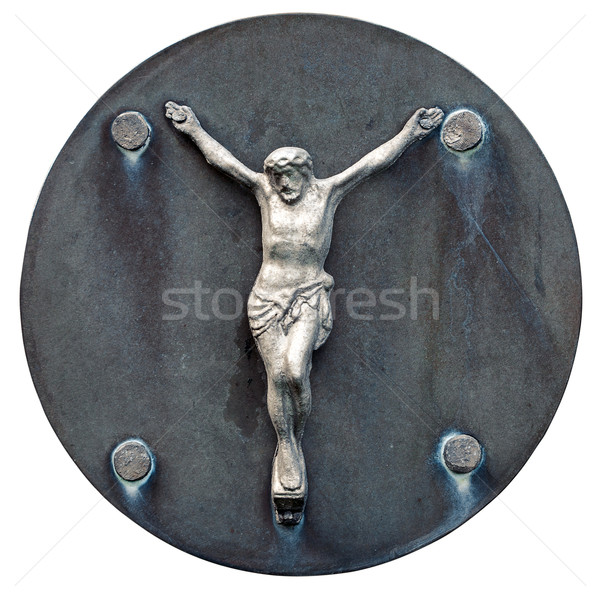 Old statue of Jesus crucified Stock photo © Taigi