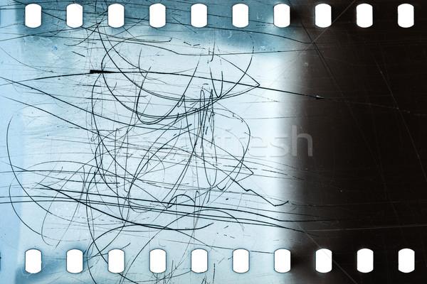 Eski grunge filmstrip gürültülü film şeridi doku Stok fotoğraf © Taigi