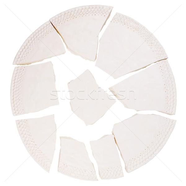 Broken ceramic plate  Stock photo © Taigi