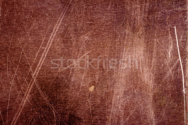 Scratched copper plate texture, old metal background Stock photo © Taigi