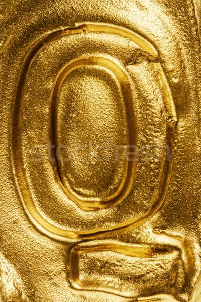 Golden letter Q Stock photo © Taigi