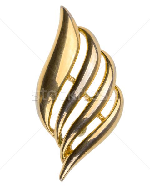 Vecchio oro spilla isolato bianco design Foto d'archivio © Taigi