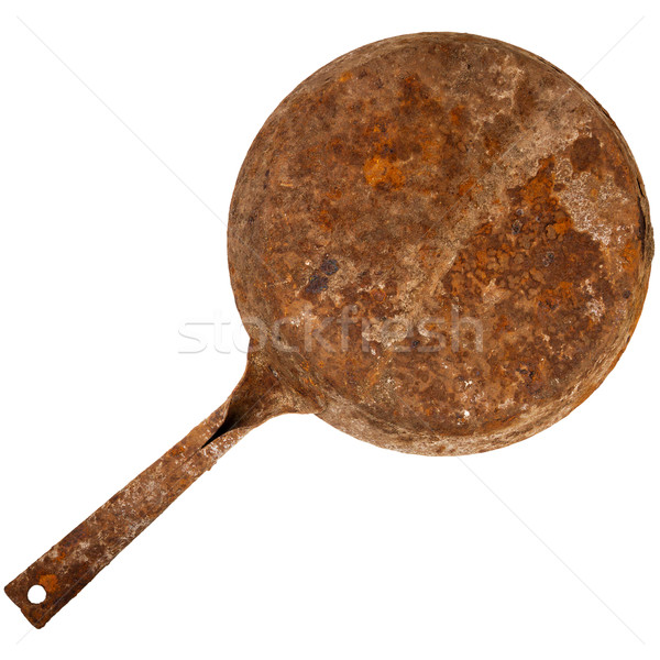Vintage rusty cast iron skillet  Stock photo © Taigi