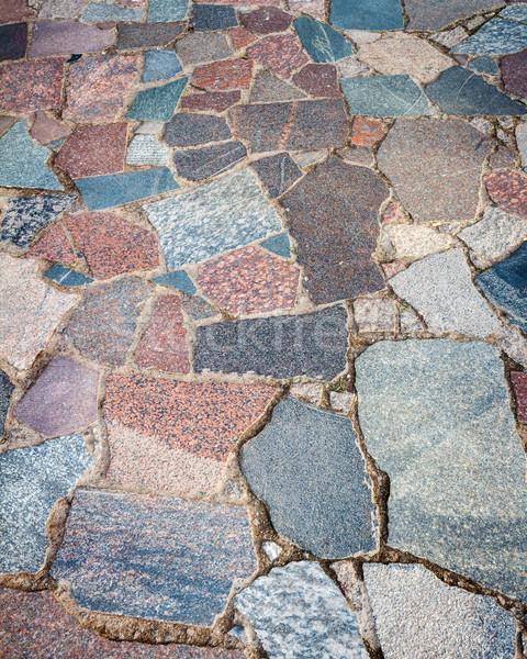 Granito bloques carretera calle urbanas piedra Foto stock © Taigi