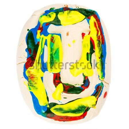 Kolorowy wykonany ręcznie biały glina list w malowany Zdjęcia stock © Taigi