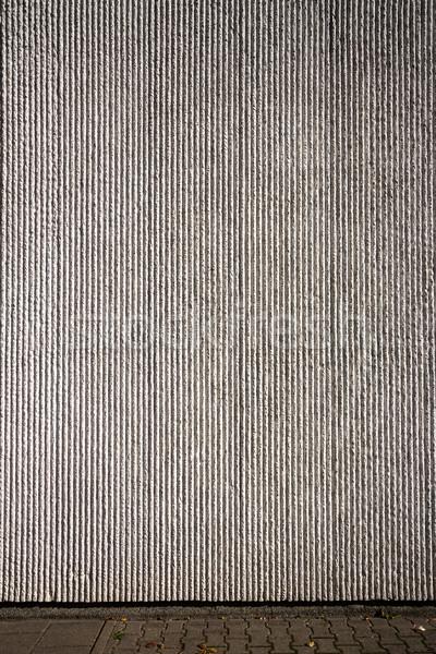 Grijs gips muur straat trottoir textuur Stockfoto © Taigi