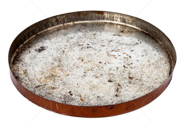 Rusty round metal plate Stock photo © Taigi