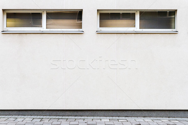 Modern white street wall Stock photo © Taigi