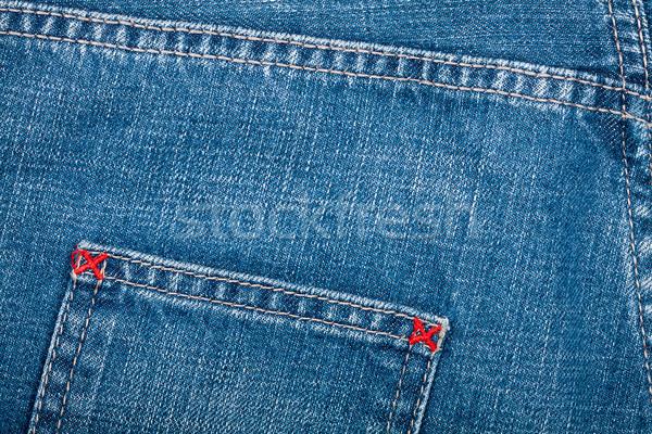 Blue jeans fabric with pocket  Stock photo © Taigi