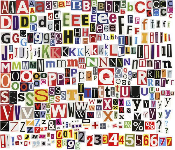 Newspaper clippings alphabet Stock photo © Taigi