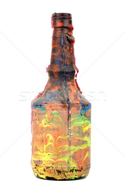 Chandelier bouteille isolé blanche vin verre Photo stock © Taigi