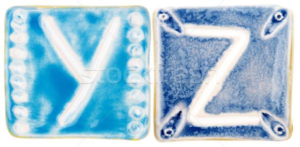 Handmade ceramic letters  Stock photo © Taigi