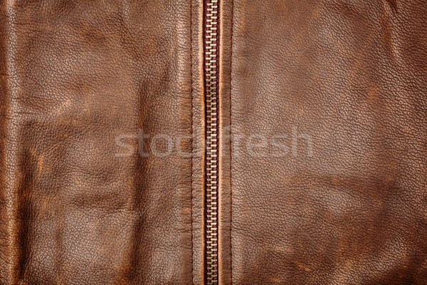 Zipper and leather  Stock photo © Taigi