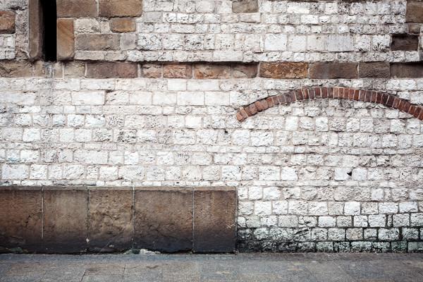Starożytnych mur chodniku domu tekstury budowy Zdjęcia stock © Taigi
