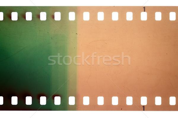 öreg grunge filmszalag citromsárga zöld vibráló Stock fotó © Taigi