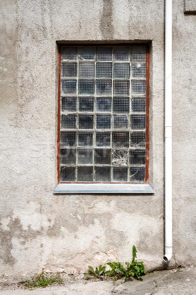 Beton duvar cam pencere zemin mimari Stok fotoğraf © Taigi