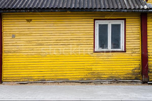 Vecchio finestra muro legno dettaglio architettonico Foto d'archivio © Taigi