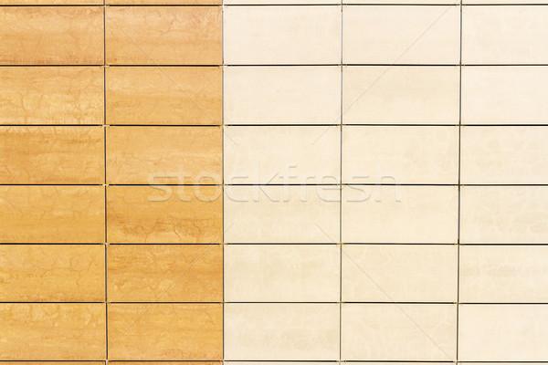 Licht beige tegel muur textuur detail Stockfoto © Taigi