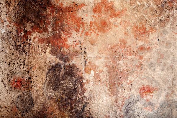 Muur textuur Geel bruin Rood Stockfoto © Taigi